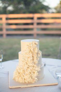 Simple and elegant wedding cake.