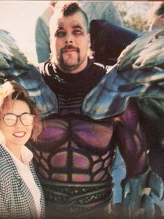 Rare photo of Kevin Nash as Super Shredder in TNMT2.