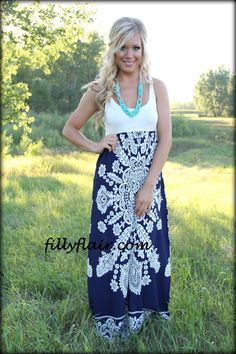 Sun on my Back maxi in Navy - Filly Flair