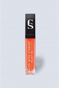 Brilho Labial - Brilliant Kiss - Introvert Orange - Faces with Stories Cosmetics Introvert, Lip Gloss, Kiss, Cosmetics, Vegan, Orange, Face, Soft Lips, Vitamins