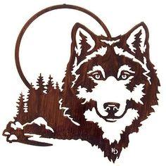 Moonlight Wolf Wall Art Metal Tree Wall Art, Metal Art, Wood Art, Vinyl Wall Art, Wood Burning Patterns, Wood Burning Art, Wood Burning Stencils, Mountain Decor, Laser Cut Metal