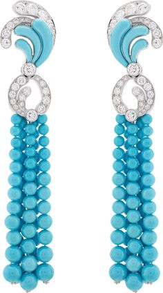 Bora Turquoise earrings: Turquoise, diamonds. © Van Cleef & Arpels