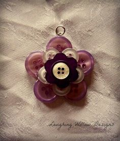 Button jewelry for necklace