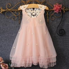 >> Click to Buy << Baby Girl Clothes Summer Lace Flower Tutu Princess Kids Dresses For Girls,Kid Clothes #Affiliate