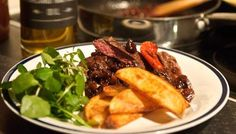 Wild Scottish venison with port, figs and potato wedges http://www.bbc.co.uk/food/recipes/wild_scottish_venison_36281  http://www.pinterest.com/ikonworks/ https://www.facebook.com/pages/Ikon-Works/335268166553005 #rockmywinterwedding @Rock My Wedding