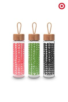 in these Orla Kiely Bamboo Glass Water Bottles. They're BPA-free with a leak-proof bamboo cap. Stay hydrated and look chic. Cute Water Bottles, Reusable Water Bottles, Glass Water Bottle, All The Small Things, Orla Kiely, Infused Water, Look Chic, Workout Gear, Essential Oils