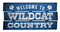 Show your love for the Big Blue Nation with this University of Kentucky 'Wildcat Country' sign! Perfect for the office, bedroom or game room, this fun sign is sure to show the world where your allegia