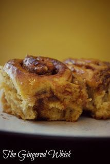 The Gingered Whisk: Spiced Cinnamon Rolls With Maple Glaze