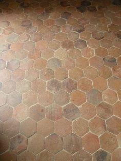 Hexagonal antique terracotta floor tiles, Lacole Casa Italiana Srl.                                                                                                                                                                                 More