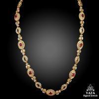 HARRY WINSTON Diamond and Ruby Necklace