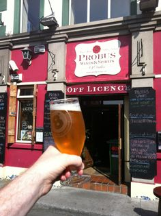 An off license where you can also drink beer. Pay on top of off license prices and enjoy! Best Craft Beers, Best Pubs, Drink Beer, Pint Glass, Dublin, Wines, Spirit, Canning, Top