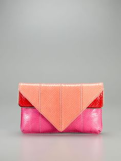 Carla Watersnake Triangle Clutch by Brian Atwood on Gilt.com