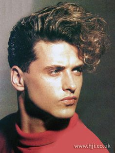 1987, men's fringe hairstyle by the Emma Claire Salon
