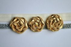 Leather Gold Bow Baby Toddler Headband Photo by LittleKateDesigns, $12.00