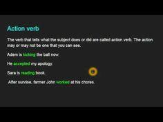 Verbs Part-1, Grammar for writing, Grade-6