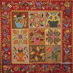 This has to be my last post with the quilts from the International Quilt Festival Houston. I didn't have time to work yesterday because I had adventures of another type well away from the … Wool Quilts, Lap Quilts, Mini Quilts, Applique Quilts, House Quilts, Wool Applique, Primitive Quilts, Primitive Folk Art, Sewing Machine Quilting