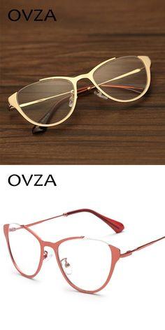 05ffad5b9639 New cat eye glasses frames for women metal fashion optical reading frame  female retro eyeglasses transparent