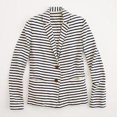 factory stripe knit blazer / j.crew