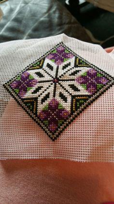 My next pillow pattern Diy Embroidery, Cross Stitch Embroidery, Granny Square Crochet Pattern, Crochet Patterns, Cross Stitch Designs, Cross Stitch Patterns, Cross Stitch Cushion, Palestinian Embroidery, Mini Cross Stitch