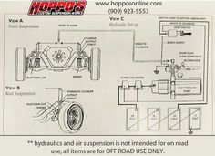 HopposOnline Vehicle Hydraulics and Air Suspension Hydraulic Cars, Hydraulic Pump, Lowrider Hydraulics, Fix My Car, Lowrider Model Cars, Plastic Models, Diagram, Tech, Impala