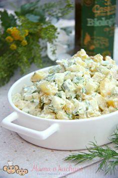 Bramborový salát s koprem a okurkou (od 9 měsíců) | Máma v kuchyni Feta, Potato Salad, Food And Drink, Dairy, Potatoes, Healthy Recipes, Cheese, Cooking, Ethnic Recipes