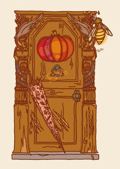 Hagrid's house door This is for a project i work on, a series of original illustrations for Harry Potter. It's just a sneak peak but i hope you like it :)