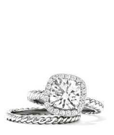 David Yurman Capri Engagement Ring. perfection. by louisa