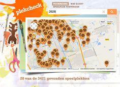 Op plekcheck vind je snel de leukste speelplekken van Nederland. Veel speelplekken komen van de uitstekende kaarten van Openstreepmap.nl. Maar je kunt ook zelf plekken toevoegen. #ekkomi #kindercoach http://www.pinterest.com/ekkomikndrcch/