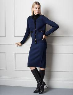 Midnight/Black - Parisian Cardigan Jacket - Winser London