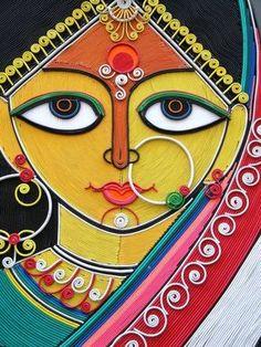 The Art Asylum : Photography Mural Painting, Mural Art, Fabric Painting, Madhubani Art, Madhubani Painting, Art And Illustration, Indian Folk Art, India Art, Indian Art Paintings