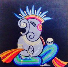 Form of Ganesha Happy Diwali Images, Ganesha Painting, Ganpati Bappa, Goddess Art, Hindu Art, Lord Ganesha, Canvas Paintings, Creative Art, Artworks