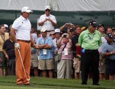 Phil And Butch On The Range At The Match Play Phil
