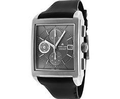 Maurice Lacroix Men's Automatic Chronograph Black Rubber Dark Grey Dial ►► http://www.gemstoneslist.com/mens-watches/maurice-lacroix-mens-watches.html?i=p