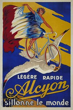 Vintage advertising posters | Cycling. THECYCLINGBUG.CO.UK #thecyclingbug #cycling #bike #poster