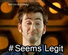 Doctor Who tenth doctor seems legit
