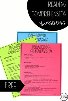 Free printable of 20 favorite reading comprehension questions to ask during read alouds. Just print the list and keep it in your favorite reading spot. Then pick two or three different questions to ask each time you read together. Easy peasy!  #readingcomprehension #learningtoread #iteachk #iteachfirst #iteachsecond
