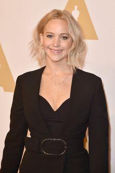 Pin for Later: Lady Gaga, Leonardo DiCaprio et les Autres Nommés Se Rendent au Déjeuner Pré Oscars Jennifer Lawrence