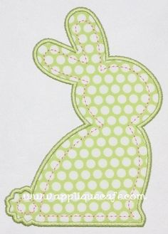 Bunny Applique Design from Applique Cafe