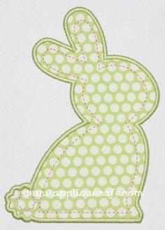 Bunny Applique Design from Applique Cafe