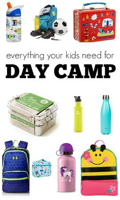 These must have camp supplies are also must have back to school supplies. Preschool and school backpacks, school lunch boxes, cool water bottles and more.