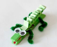 Need new ideas for crafts? Here are 26 animal crafts I made with stuff I had laying around the house -- really! Need new ideas for crafts? Here are 26 animal crafts I made with stuff I had laying around the house -- really! Vbs Crafts, Camping Crafts, Crafts To Do, Preschool Crafts, Arts And Crafts, Clothespin Crafts, Kindergarten Crafts, Alligator Crafts, Animal Crafts For Kids