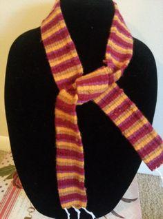 Almost Seminole Colors Skinny Scarf by TwiceisNiceBooBooRug, $15.00