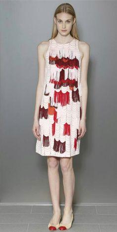 This look from the Bottega Veneta resort collection is flapper-inspired and fabulous. For the best Bottega bags, visit http://balharbourshops.com/must-haves/mens-accessories/item/1862-bottega-veneta
