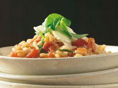 tomaten-mozzarella-basilikum risotto
