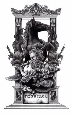 Poseidon (Illustration by Aaron King)