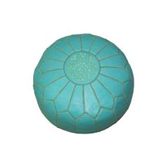 a moroccan ottoman in turquoise  Today $129.99