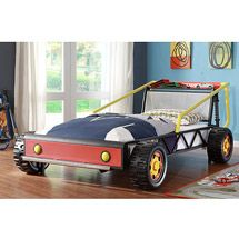 Twin Race Car Bed, Red
