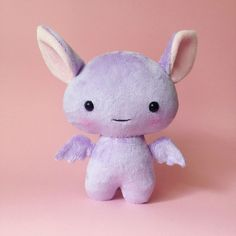 Bat plush toy  Cute stuffed bat  Purple bat   Bat by CreepyandCute