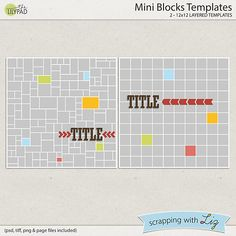 Mini Blocks Templates