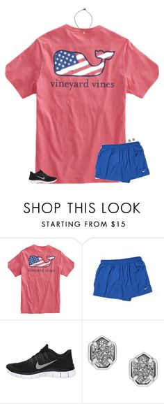 """orientation today:("" by secfashion13 ❤ liked on Polyvore featuring NIKE and Kendra Scott"